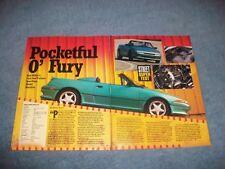 """1992 Rod Millen Mercury Capri XR2 Vintage Info Article """"Pocketful O' Fury"""""""