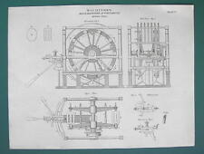 SHIP BUILDING Block Shaping Engine at Portsmouth - 1820 ABRAHAM REES Print
