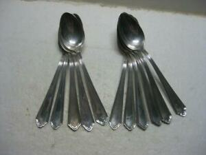 "11 Antique John Alden Watson Sterling Silver 5 3/4"" Teaspoons 1911 No Mono"