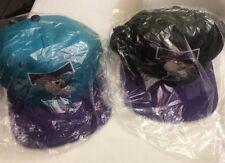 Vtg 1993 TASMANIAN DEVIL BALL CAP HAT TAZ LOONEY TUNES Purple or Aqua SNAPBACK