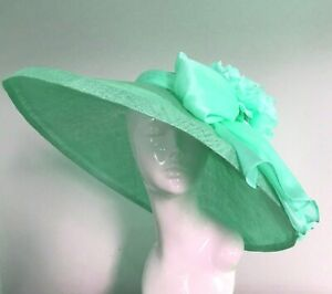 Exclusive Mint Green Designer Millinery by Hat Couture Wedding Bridal AscotHat