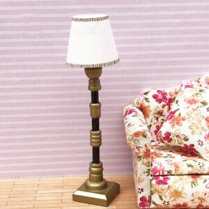 MagiDeal 1/12 Dollhouse Miniature Furniture Lampshade Floor Lamp Light 2Pcs