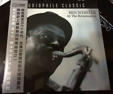 Ben Webster At the Renaissance CD Audiophile Classic NEW