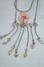 Pilgrim double chain enamel and crystal necklace .price $11.95