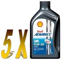 OLIO MOTO 4T SHELL ADVANCE ULTRA SINTETICO 15W50 5x1 litro