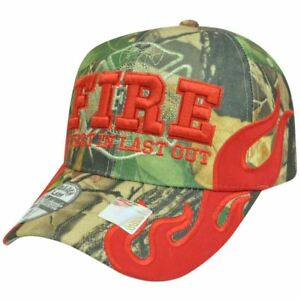 Fire Department Dept Firefighter First In Last Out Camouflage Hat Cap