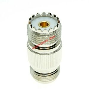 1Pcs N female to UHF female SO-239 SO239 jack Straight RF adapter connector