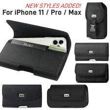 REIKO Leather Carrying Phone Pouch Belt Clip Case for iPhone 11/Pro/Pro MAX
