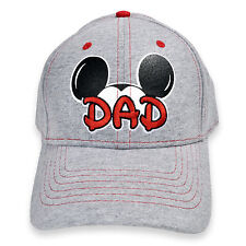 Disney Mickey Mouse Ears DAD Adult Hat Cap Grey Brand New