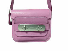 Coach Pebbled Leather Swagger Shoulder Bag in Puce Purple 35834