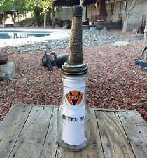 Vntg  Vel-Tex Motor Oil 1 Qt Shields Harper Bottle & The Master Spout & Dust Cap