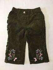 NWT GYMBOREE GIRLS CORDUROY SPARKLE PANTS WINTER PRINCESS 12-18 MONTHS GREEN