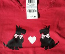 "NWT Size 1X Charter Club SLEEPSHIRT + SOCKS, Red ""Scottie Dog"" Print, ADORABLE!"