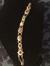 bracelet 14k diamond, ruby, emerald, charms bracelet