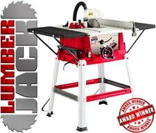 """Trade 1800w 10"""" 250mm Bench Table Saw with Legstand Side Extensions & Blade 230v"""