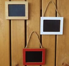 Set of 3 Shabby Rustic Chic Style Mini Wooden Hanging Chalk Boards