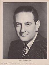RARE VINTAGE 1937 GUY LOMBARDO PROMO PHOTO SUPPLEMENT FROM PHILADELPHIA RECORD