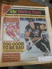 The Hockey News 1992 Mario Lemieux Theoren Fleury Patrick Roy Craig Janney