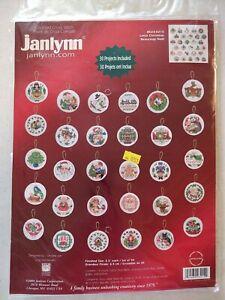 Lot153 Janlynn Lotsa Christmas 30 Ornaments Cross Stitch Kit