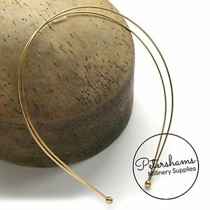 Double Headband Tiara Band Base for Fascinators Millinery Silver or Gold Plated