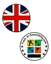Country Micro Geocoin - UK Geocaching Official Trackable