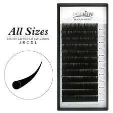 All Size Lash Eyelash Extensions Building Semi permanent Individual Lashes