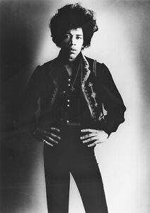 "Reproduction ""Jimi Hendrix - Black & White"" Poster, Size A2 (420mm x 594mm)"