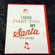 Tarjeta de Navidad saludos novedad Rude Divertido Broma Humor Navidad W ** Ked off Bum