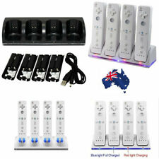 4PCS Rechargeable Batteries For Wii Remote Controller & Charger Dock Station