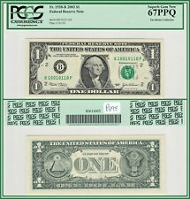 2003 True Binary Fancy $1 New York FRN Dollar Note PCGS 67 PPQ Superb Gem Unc