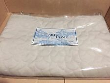 NWT Ann Gish Fan Velvet Pumice Quilted EURO Pillow Sham MSRP $150 - NICE!