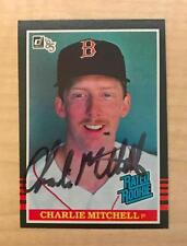 CHARLIE MITCHELL BOSTON RED SOX SIGNED AUTOGRAPHED 1985 DONRUSS RATED ROOKIE CAR