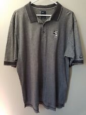 Men Size XL Nike Golf Polo Shirt Disney Mickey Gray Checkered SS-Cats Eye Button