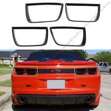 For 2010-13 CHEVY CAMARO GLOSSY BLK ADD-ON TAIL LIGHT LAMP TRIM BEZEL COVER 4PCS