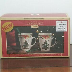 Spode Christmas Tree 2020 Annual 4 Piece Mug and Spoon Set New