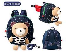 Rucksack Tasche Kinderrucksack Kindergartentasche mit Bär Plüschtier 23x20cm Neu