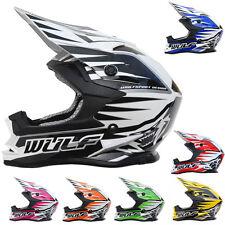 Wulfsport ADVANCE Child Kids CUB Motorcross Motocross MX Helmet Quad ATV Crash