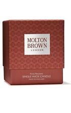 MOLTON BROWN SINGLE WICK CANDLE. ROSA ABSOLUTE 180g. VALENTINES DAY GIFT
