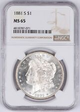 1881-S Morgan Silver Dollar $1 NGC MS65 Bright White