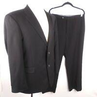 Tommy Hilfiger Mens sz. 42r black 100% wool Suit  2 Button EUC B29