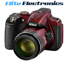 NIKON B600 DIGITAL COMPACT CAMERA COOLPIX RED 16MP 60X OPTICAL ZOOM
