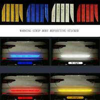 Reflective Safety Mark Strips Car Door Stickers Warning Tape Auto Decal Trim-5Pc