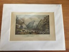 Currier and Ives,The Indian Pass-Rocky Mountains, Offset Litho Print 7x10, 1931