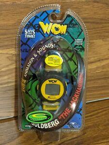 1998 WCW Goldberg Jackhammer C Watch NWO WWE Trendmasters Toys R Us sticker rare