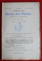 1909 - Revue des Poètes - N° 136 - E. des Essarts, X.-J. de Valon, Ch. Dornier