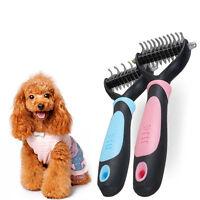 Pet Hair Fur Shedding Trimmer Grooming Dematting Rake Comb Cat Dog Brush Tool US