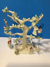🌳 Lenox Large Tree With 8 Holiday Ornaments