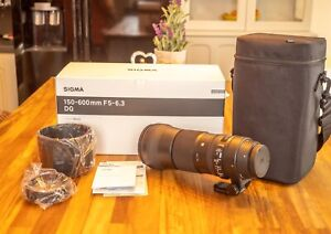 Sigma 150-600 mm f5-6.3 DG OS HSM Contemporary Lens CANON EF fit.