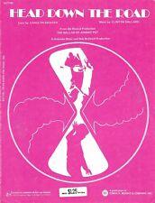 """Betty Buckley """"BALLAD OF JOHNNY POT"""" John Bennett Perry 1971 FLOP Sheet Music"""