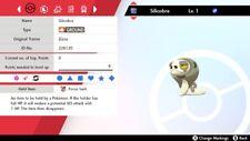 Shiny 6IV Adamant Shed Skin Silicobra For Pokemon Sword/Shield Switch + Item